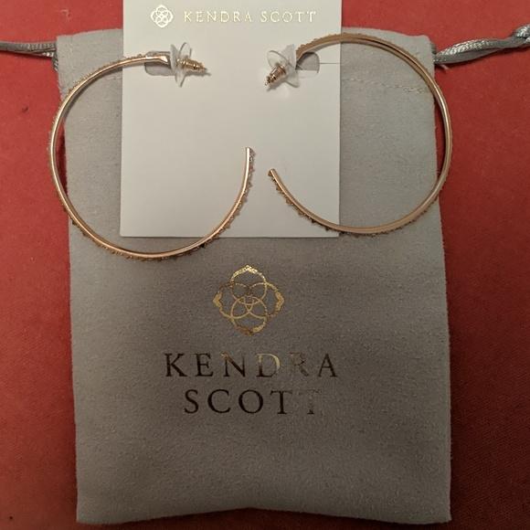 e3624abe5e45a Kendra Scott Rose Gold Val Hoop Earrings NWT $75 NWT